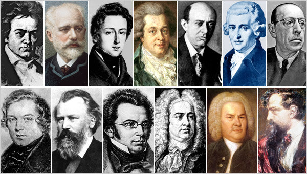 Famous Composers - Biographies, Facts and Music Compositions